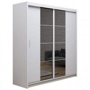 Skapis ar bīdāmām durvīm un spoguli Porto 2-203