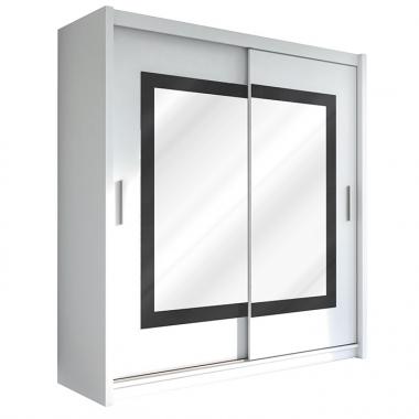 Skapis ar bīdāmām durvīm un spoguli Preston 203