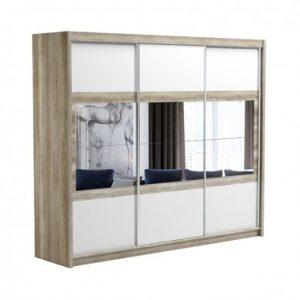 Skapis ar bīdāmām durvīm un spoguli Salwador 250
