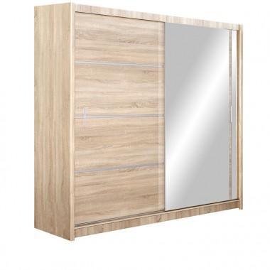 Skapis ar bīdāmām durvīm un spoguli Vista 203