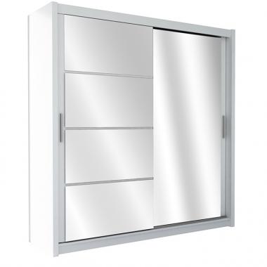 Skapis ar bīdāmām durvīm un spoguli Brandon 203