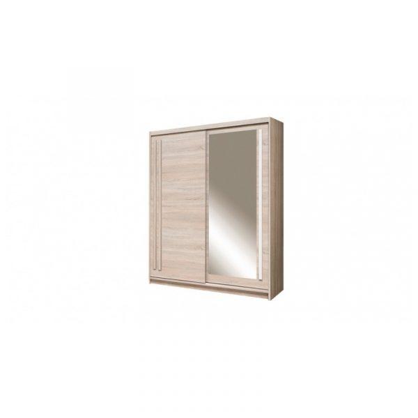 Skapis ar bīdāmām durvīm un spoguli Effect EF-2-2000