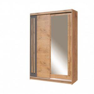 Skapis ar bīdāmām durvīm un spoguli Effect EF-4-150