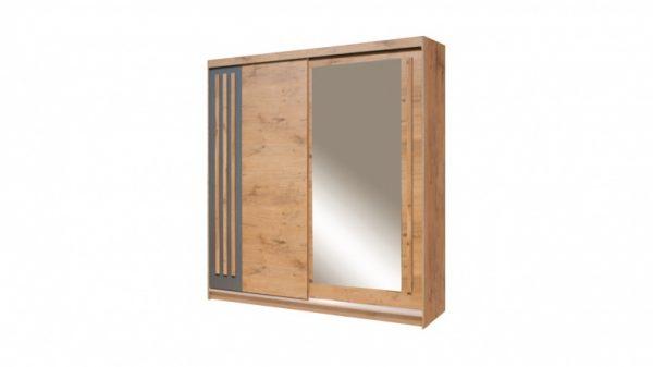 Skapis ar bīdāmām durvīm un spoguli Effect EF-4-200