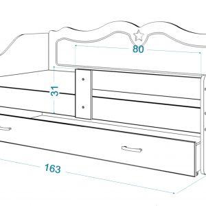 Bērnu gulta LILI 160x80